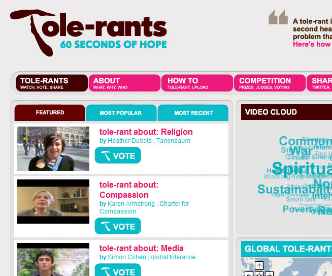 Tole-rants: 60 seconds of hope