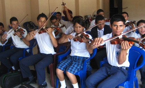 El Salvador youth use music to make change
