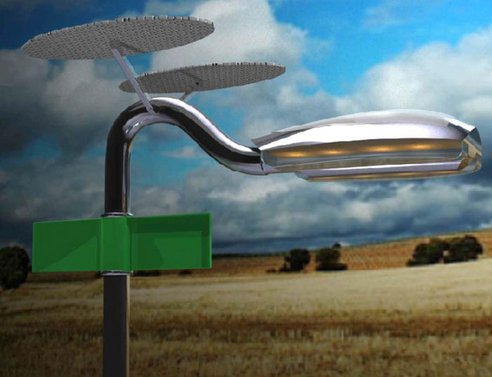 Wind-Solar-powered Holonic Streetlamps