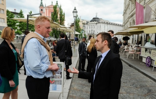 Duke of Wessex meets thought leaders in Slovenia
